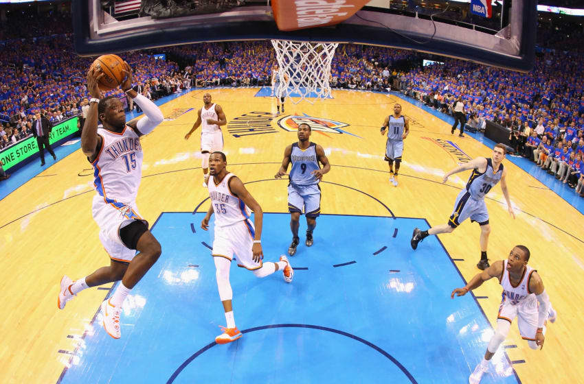 Reggie Jackson #15 of the Oklahoma City Thunder (Photo by Ronald Martinez/Getty Images)