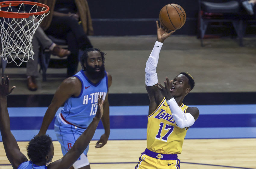 OKC Thunder keys to winning: Lakers guard Dennis Schroder (17) Mandatory Credit: during the first quarter Troy Taormina-USA TODAY Sports