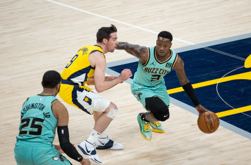 OKC Thunder preview:; Charlotte Hornets guard Terry Rozier (3) : Trevor Ruszkowski-USA TODAY Sports