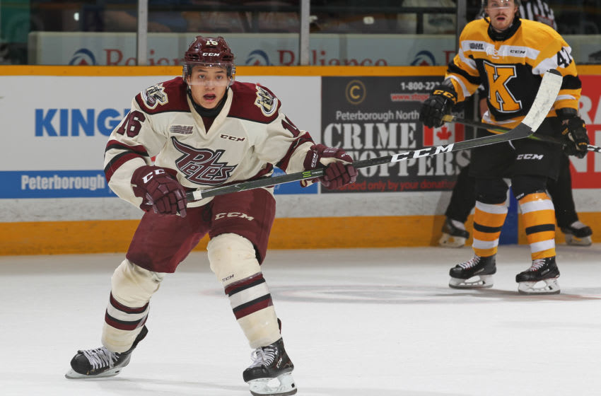 Nick Robertson #16 of the Peterborough Petes. (Photo by Claus Andersen/Getty Images)