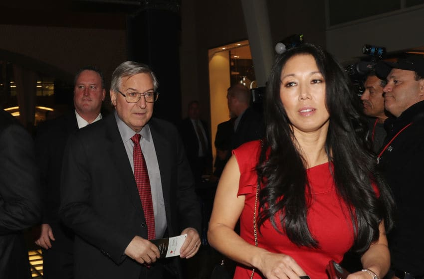 Buffalo Sabres owner Terry Pegula and his wife Kim , Ontario, Canada. (Photo by Bruce Bennett/Getty Images)