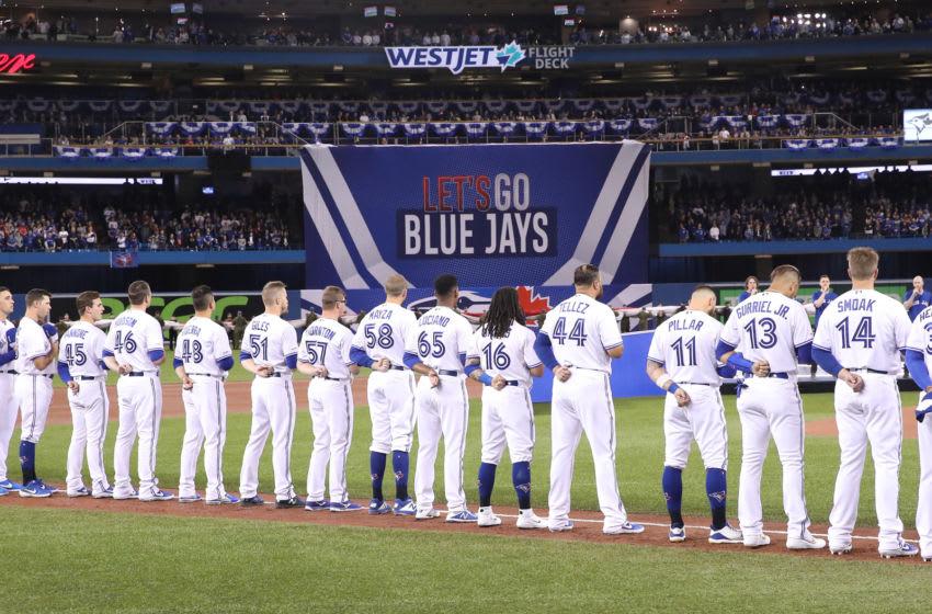 Toronto Blue Jays on Opening Day. (Photo by Tom Szczerbowski/Getty Images)