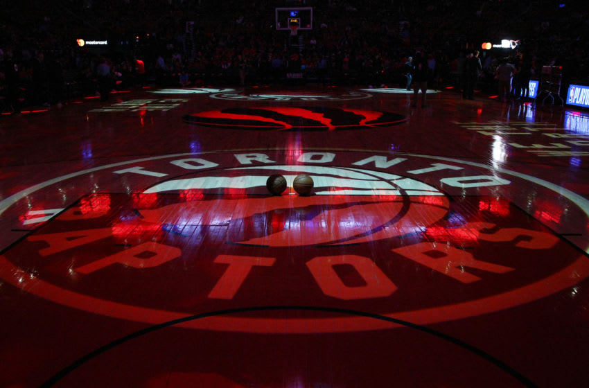 The court prior to Game Two of the first round of the 2019 NBA Playoffs between the Orlando Magic and the Toronto Raptors at Scotiabank Arena. (Photo by Vaughn Ridley/Getty Images)