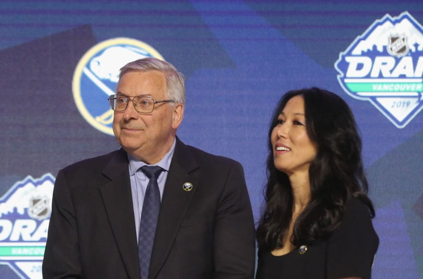Terry and Kim Pegula of the Buffalo Sabres. (Photo by Bruce Bennett/Getty Images)