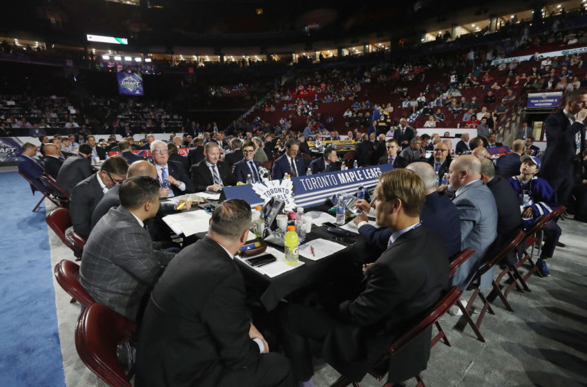 The Toronto Maple Leafs management attend the 2019 NHL Draft at the Rogers Arena. (Photo by Bruce Bennett/Getty Images)
