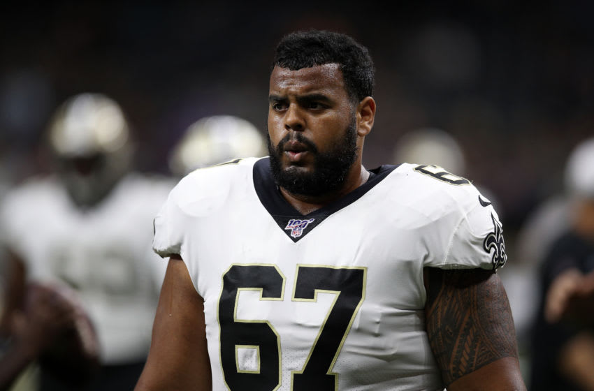 Buffalo Bills - Larry Warford of the New Orleans Saints (Photo by Chris Graythen/Getty Images)