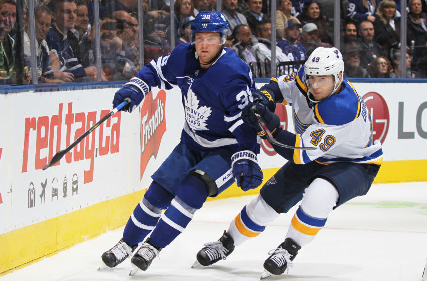 Toronto Maple Leafs defenceman Rasmus Sandin (Photo by Claus Andersen/Getty Images)