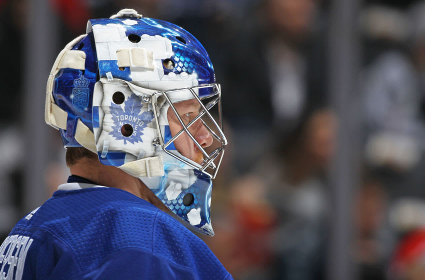 Frederik Andersen #31 of the Toronto Maple Leafs. (Photo by Claus Andersen/Getty Images)