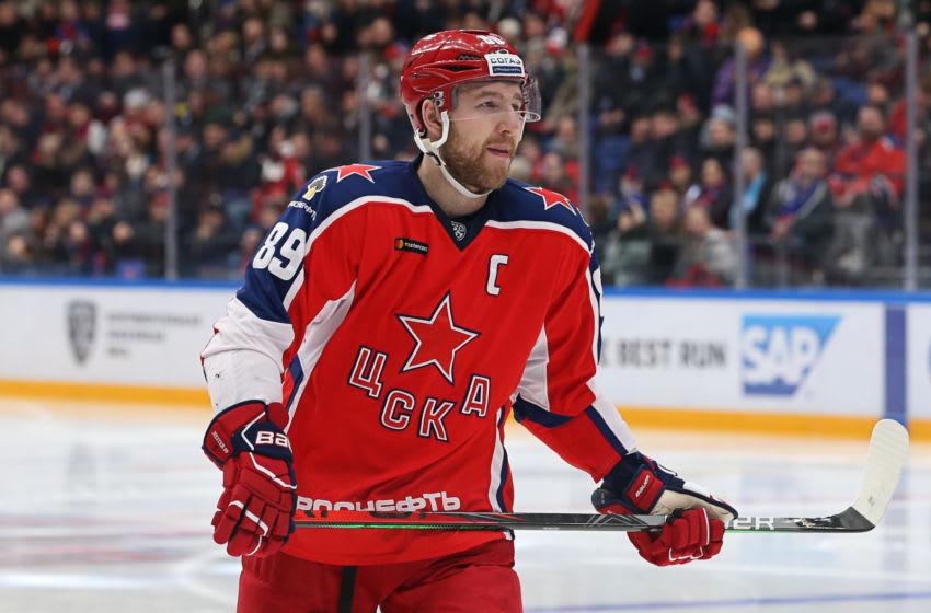 Potential Toronto Maple Leafs target? Nikita Nesterov of the CSKA. (Photo by Anna Sergeeva/ Getty Images)