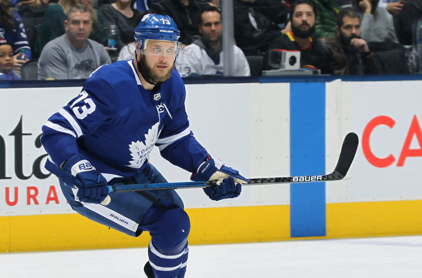 Kyle Clifford #73 of the Toronto Maple Leafs. (Photo by Claus Andersen/Getty Images)