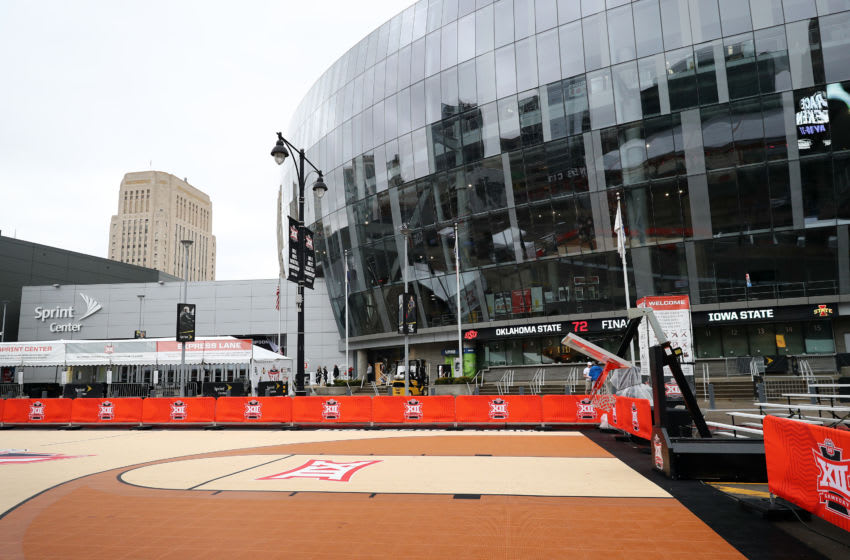A general view of the exterior of the Sprint Center. (Photo by Jamie Squire/Getty Images)