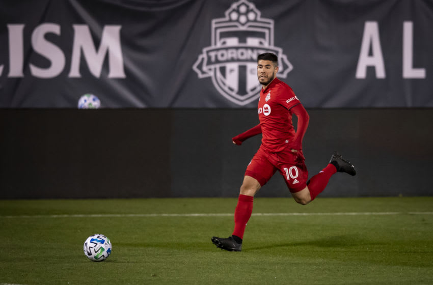 Alejandro Pozuelo #10 of Toronto FC. (Photo by Ira L. Black - Corbis/Getty Images)