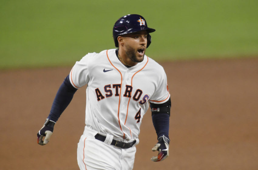George Springer #4 of the Houston Astros. (Photo by Harry How/Getty Images)
