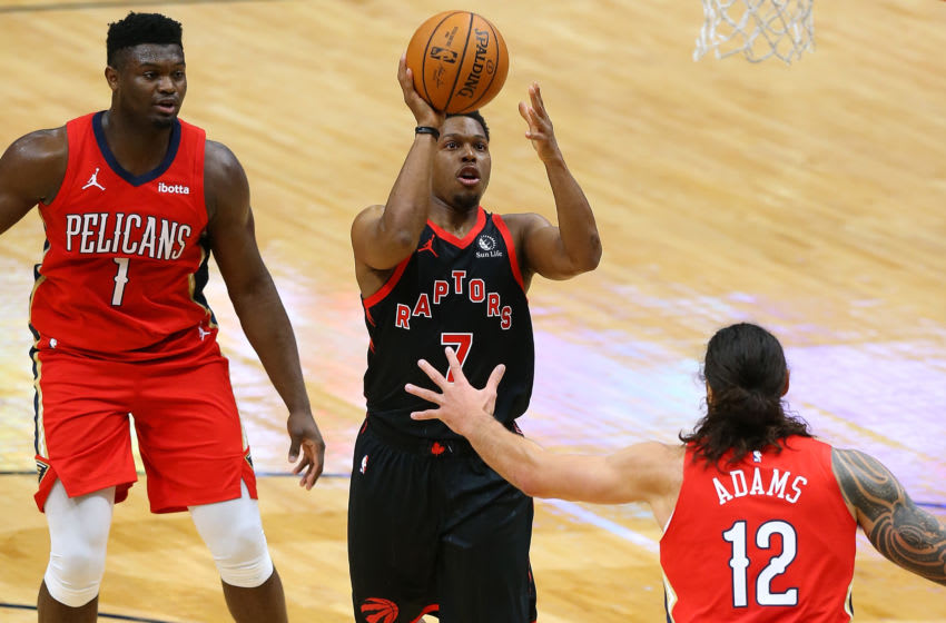 Kyle Lowry #7 of the Toronto Raptors. (Photo by Jonathan Bachman/Getty Images)