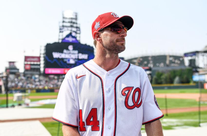 Max Scherzer #31 of the Washington Nationals.(Photo by Dustin Bradford/Getty Images)