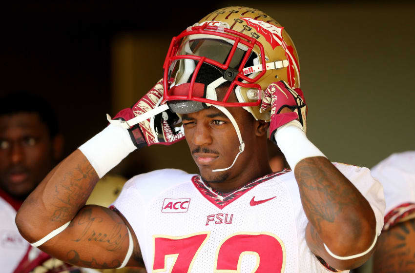 James Wilder Jr. #32 of the Florida State Seminoles during their game at BB&T Field on November 9, 2013 in Winston Salem, North Carolina. (Photo by Streeter Lecka/Getty Images)