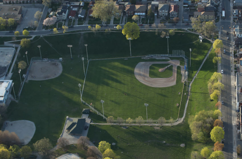 Toronto Blue Jays Christie Pits (Photo by Tom Szczerbowski/Getty Images) *** Local Caption ***