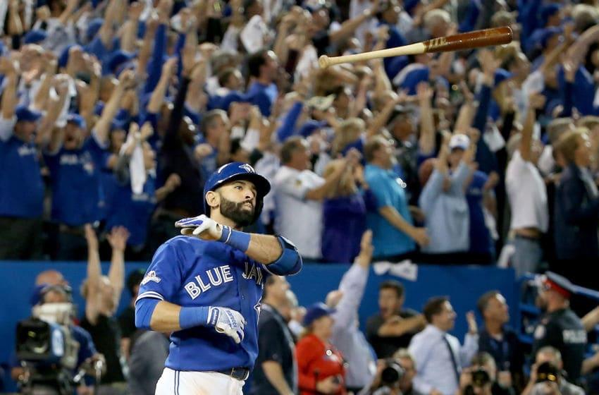 Jose Bautista of the Toronto Blue Jays. (Photo by Tom Szczerbowski/Getty Images)