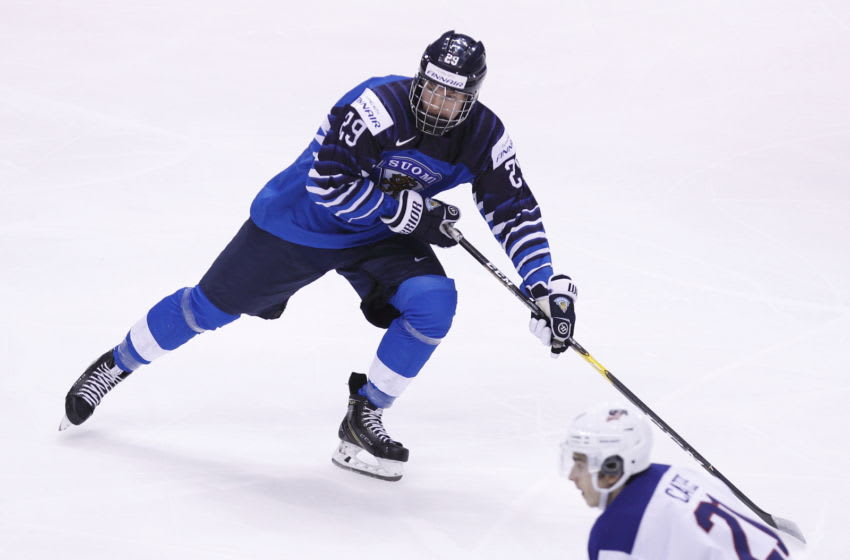 Potential Buffalo Sabres draft pick Anton Lundell. (Photo by Kevin Light/Getty Images)