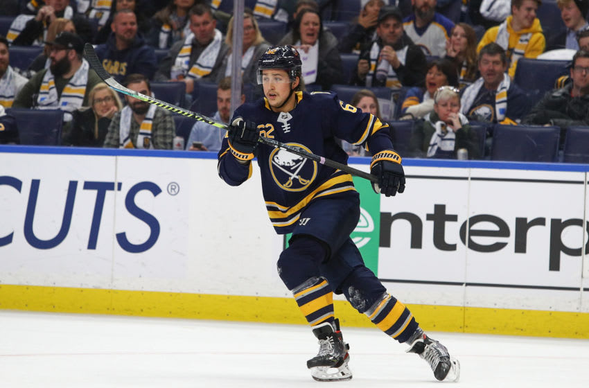 Brandon Montour #62 of the Buffalo Sabres. (Photo by Nicholas T. LoVerde/Getty Images)