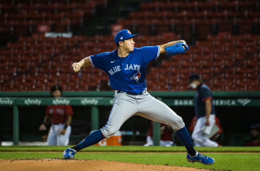Nate Pearson of the Toronto Blue Jays. (Photo by Kathryn Riley/Getty Images)