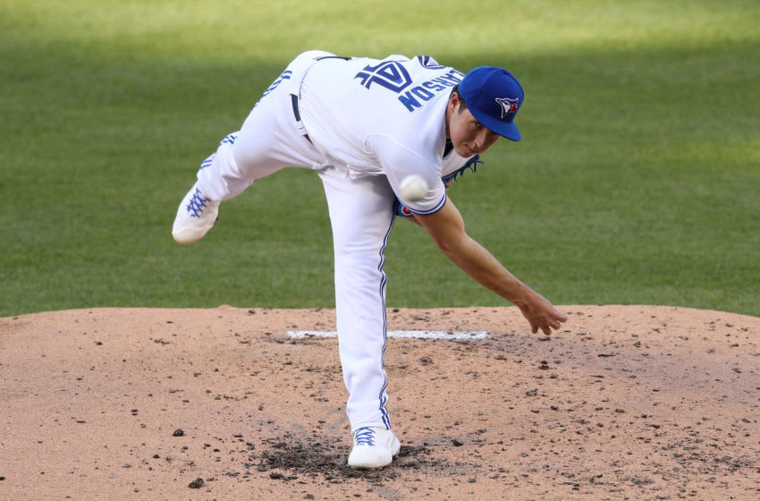 Nate Pearson of the Toronto Blue Jays. (Photo by Patrick Smith/Getty Images)