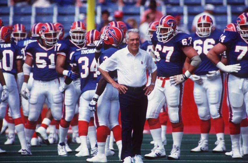 Buffalo Bills Head Coach Marv Levy. Mandatory Credit: Rick Stewart/ALLSPORT