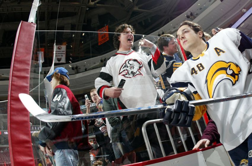 Daniel Briere of the Buffalo Sabres. (Photo by Len Redkoles/Getty Images)