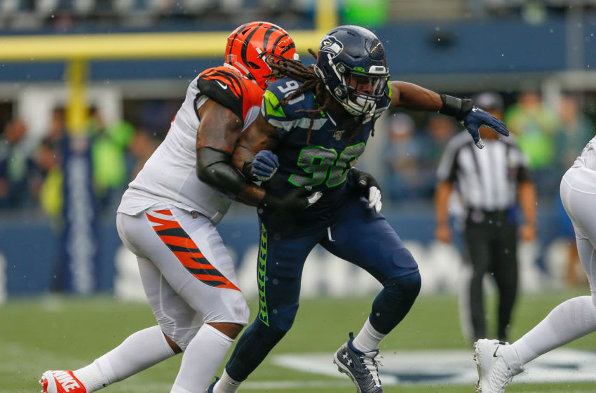 SEATTLE, WA - SEPTEMBER 08: Defensive end Jadeveon Clowney #90 of the Seattle Seahawks in action against the Cincinnati Bengals at CenturyLink Field on September 8, 2019 in Seattle, Washington. (Photo by Otto Greule Jr/Getty Images)