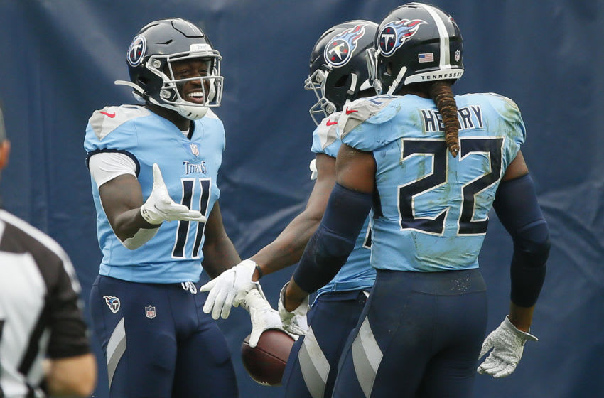 A.J. Brown #11, Tennessee Titans (Photo by Frederick Breedon/Getty Images)