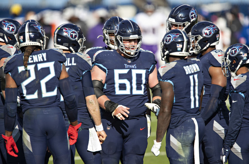 Center Ben Jones #60 of the Tennessee Titans (Photo by Wesley Hitt/Getty Images)