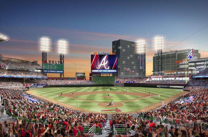 AtlantaBraves.com rendering of SunTrust Park with new wall.