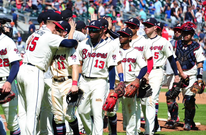 Let's get ready for the Atlanta Braves to all line-up and re-introduce themselves. (Photo by Scott Cunningham/Getty Images)