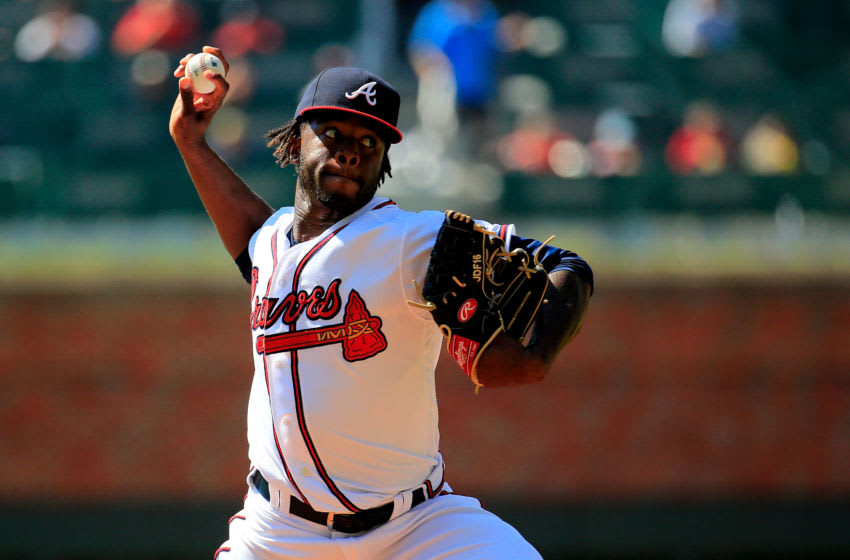 ATLANTA, GA - SEPTEMBER 19: Touki Toussaint #62 of the Atlanta Braves pitches during the first inning against the St. Louis Cardinals at SunTrust Park on September 19, 2018 in Atlanta, Georgia. (Photo by Daniel Shirey/Getty Images)