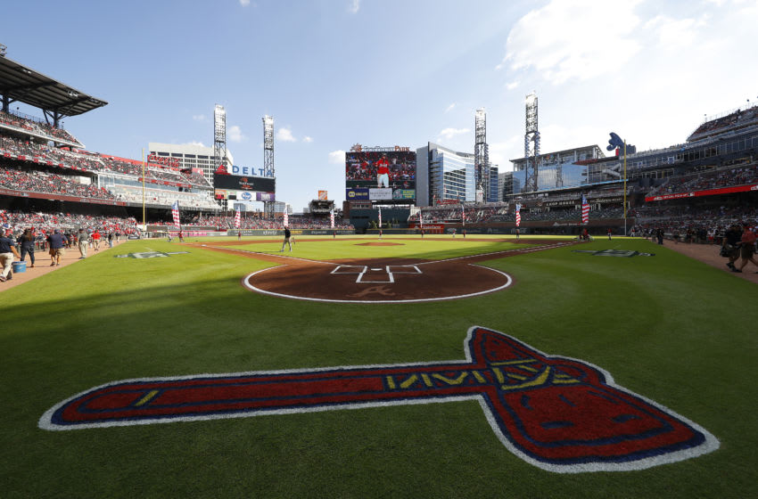 ATLANTA, GEORGIA - OCTOBER 04: A general view prior to game two of the National League Division Series between the Atlanta Braves and the St. Louis Cardinals at SunTrust Park on October 04, 2019 in Atlanta, Georgia. (Photo by Kevin C. Cox/Getty Images)