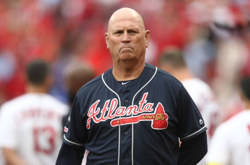 Atlanta Braves manager Brian Snitker . (Photo by Jamie Squire/Getty Images)