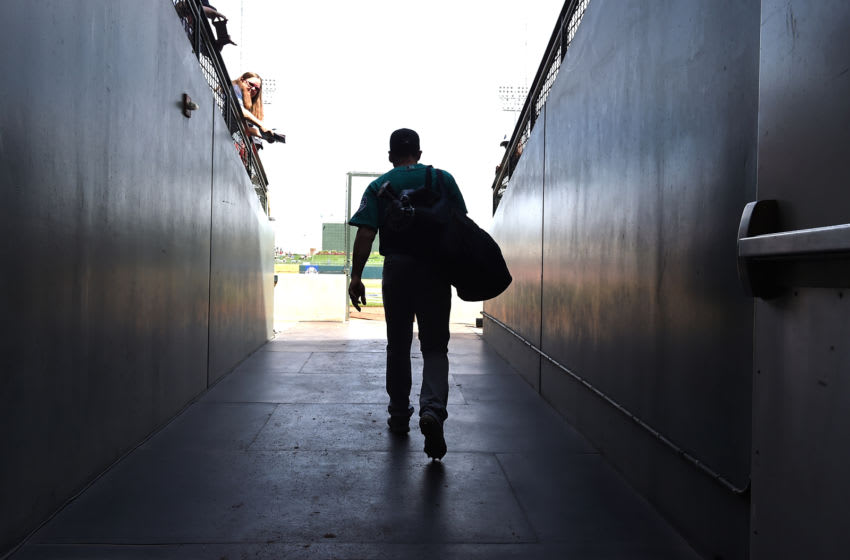 SURPRISE, AZ - MARCH 16: Jean Segura #2 of the Seattle Mariners walks to the field prior to a spring training game against the Texas Rangers at Surprise Stadium on March 16, 2018 in Surprise, Arizona. (Photo by Norm Hall/Getty Images)