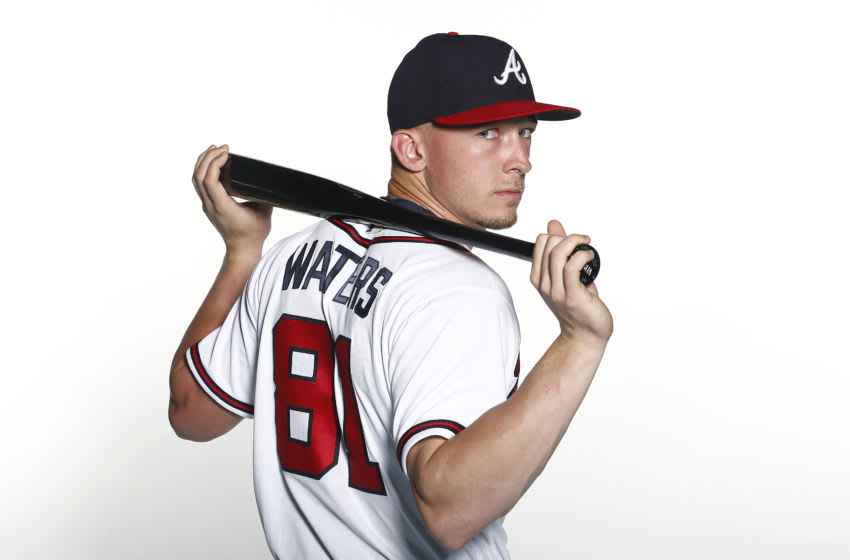 VENICE, FLORIDA - FEBRUARY 20: Drew Waters #81 of the Atlanta Braves poses for a photo during Photo Day at CoolToday Park on February 20, 2020 in Venice, Florida. (Photo by Michael Reaves/Getty Images)