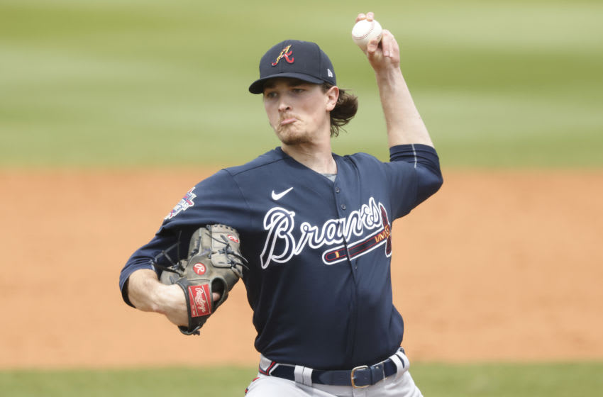 PORT CHARLOTTE, FLORIDA - MARCH 21: Max Fried #54 of the Atlanta Braves delivers a pitch against the Tampa Bay Rays during the fifth inning of a Grapefruit League spring training game at Charlotte Sports Park on March 21, 2021 in Port Charlotte, Florida. (Photo by Michael Reaves/Getty Images)