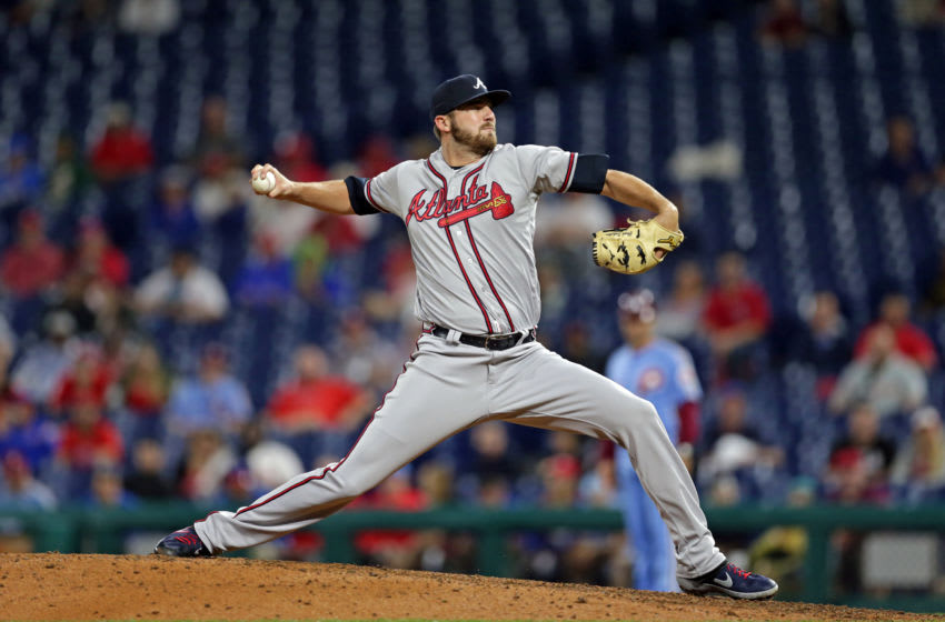 Today the Atlanta Braves recalled reliever Chad Sobotka. The Phillies won 9-5. (Photo by Hunter Martin/Getty Images)
