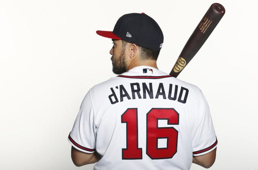 Travis d'Arnaud, Atlanta Braves (Photo by Michael Reaves/Getty Images)