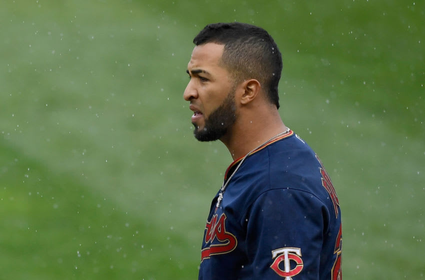 MINNEAPOLIS, MINNESOTA - SEPTEMBER 30: Eddie Rosario #20 of the Minnesota Twins reacts to being ejected during the sixth inning of Game Two in the American League Wild Card Round against the Houston Astros at Target Field on September 30, 2020 in Minneapolis, Minnesota. The Astros defeated the Twins 3-1. (Photo by Hannah Foslien/Getty Images)