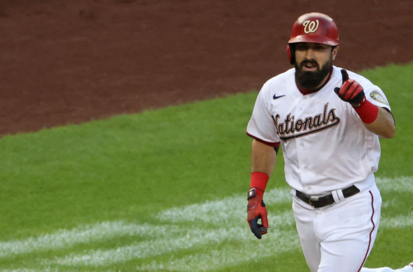 Washington declined Adam Eaton's option year, presenting an opportunity for the Atlanta Braves and others. Mandatory Credit: Geoff Burke-USA TODAY Sports