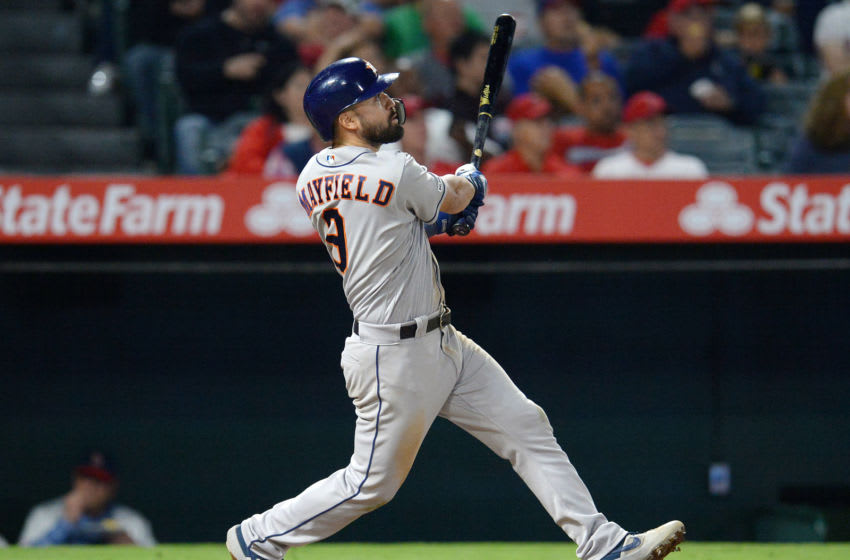 The Atlanta Braves claimed utility infielder Jack Mayfield of waivers from Houston. Mandatory Credit: Gary A. Vasquez-USA TODAY Sports