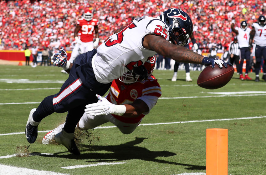 Duke Johnson #25 of the Houston Texans (Photo by Jamie Squire/Getty Images)
