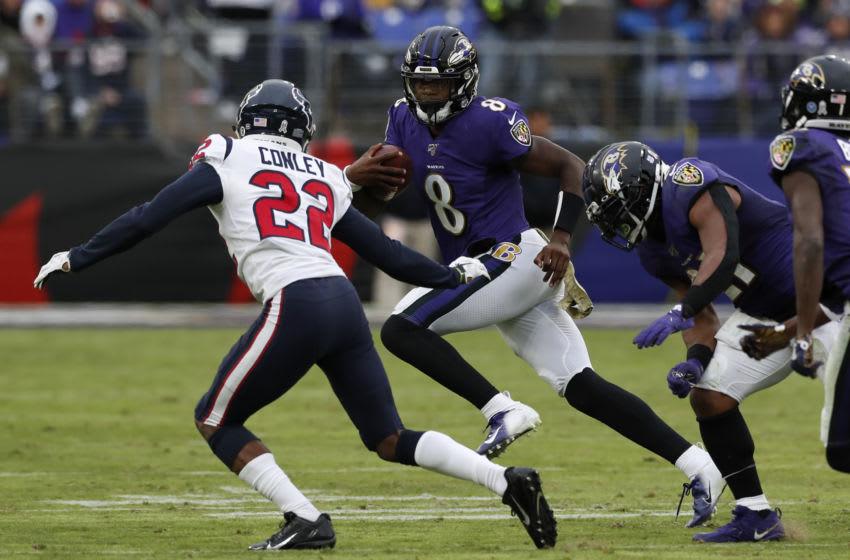 Lamar Jackson #8 of the Baltimore Ravens (Photo by Todd Olszewski/Getty Images)