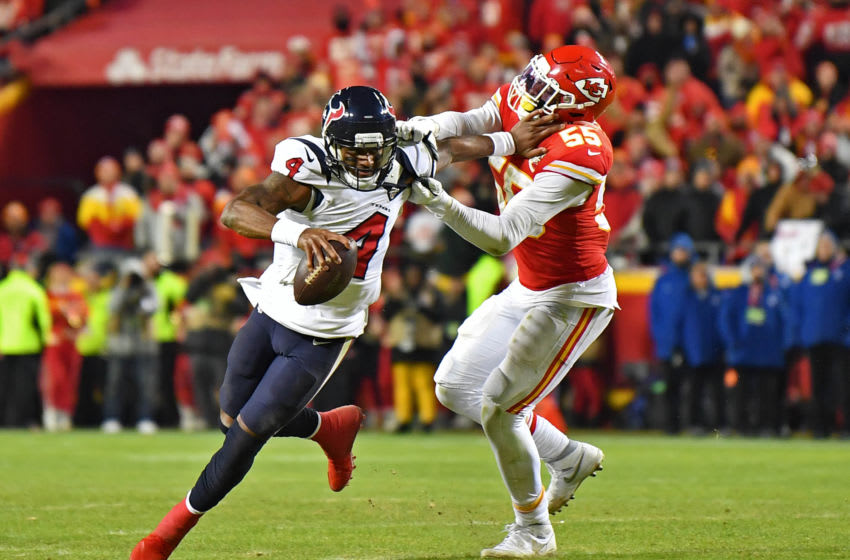 Deshaun Watson #4 of the Houston Texans (Photo by Peter G. Aiken/Getty Images)