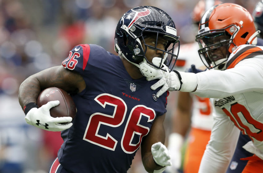 Lamar Miller #26 of the Houston Texans (Photo by Tim Warner/Getty Images)