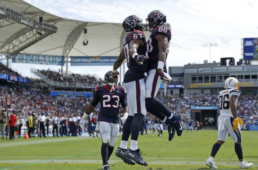 Darren Fells Houston Texans Jordan Akins (Photo by Meg Oliphant/Getty Images)