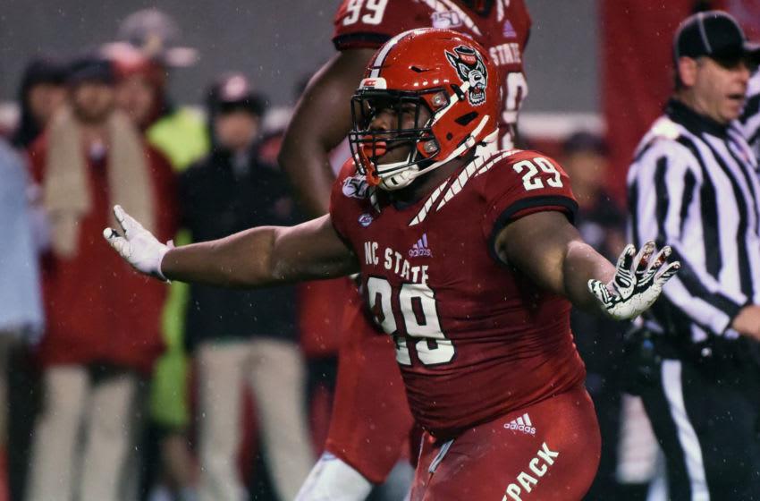 North Carolina State Wolfpack defensive tackle Alim McNeill (29) Mandatory Credit: Rob Kinnan-USA TODAY Sports